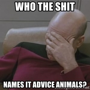 Picard - Who the shit names it advice animals?