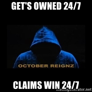 HOODIE FAGGOT - GET'S OWNED 24/7 CLAIMS WIN 24/7