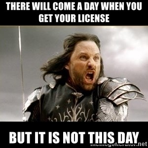 Aragon - What Say You - There will come a day when you get your license but it is not this day