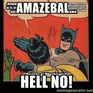 Batman Slap Robin Blasphemy - Amazebal... HELL NO!