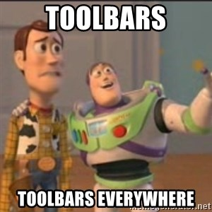 Buzz - Toolbars toolbars everywhere