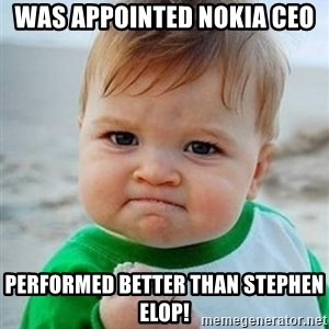 victory kid - was appointed nokia ceo performed better than stephen elop!