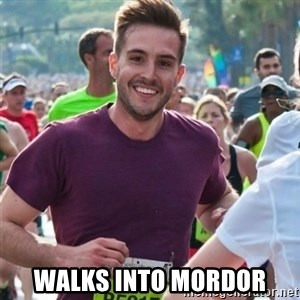 Incredibly photogenic guy - WALKS INTO MORDOR