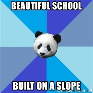 Pit Panda - beautiful school built on a slope