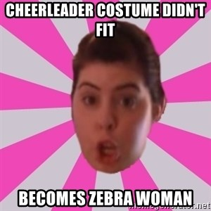 Failyn Kailyn - cheerleader costume didn't fit becomes zebra woman