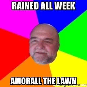 S.murph says - rained all week amorall the lawn