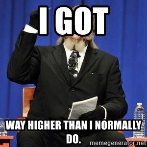 Rent is too dam high - i got way higher than i normally do.