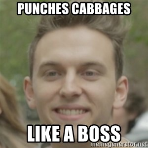JackHowardCan'tSmile - Punches Cabbages like a boss
