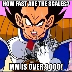 Over 9000 - HOW FAST ARE THE SCALES? mm IS over 9000!