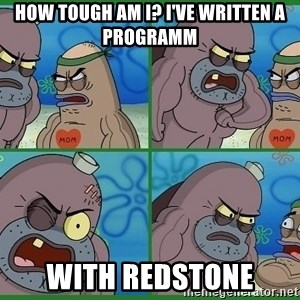 How tough are you - How tough am i? i've written a programm with redstone