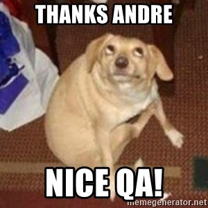 Oh You Dog - Thanks Andre Nice QA!