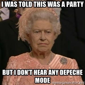 The Olympic Queen - I was told this was a party but i don't hear any depeche mode