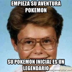 good luck larry hd - empieza su aventura pokemon su pokemon inicial es un legendario