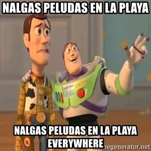 X, X Everywhere  - NALGAS PELUDAS EN LA PLAYA NALGAS PELUDAS EN LA PLAYA EVERYWHERE