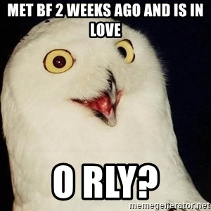Orly Owl - met bf 2 weeks ago and is in love o rly?