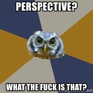 Art Newbie Owl - Perspective? What the fuck is that?