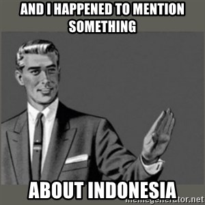 Bitch, Please grammar - And I happened to mention something about indonesia