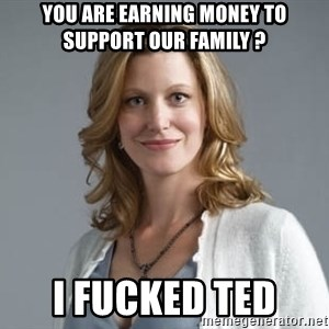 Skyler White - You are earning money to support our family ? i fucked ted