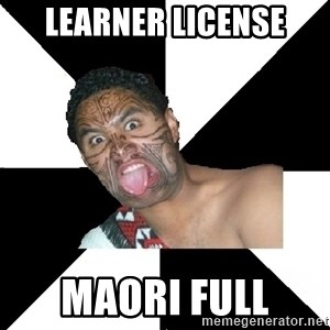 New Zealand - learner license maori full