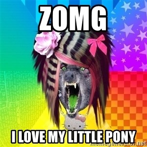 Insanity Scene Wolf - zOMG i love my little pony