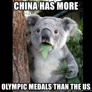 Koala can't believe it - China Has More Olympic Medals than the US
