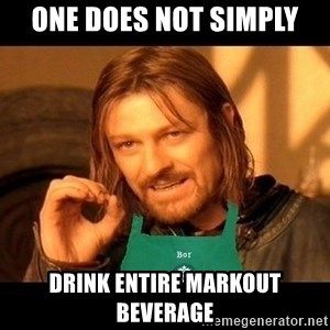 Barista Boromir - one does not simply drink entire markout beverage