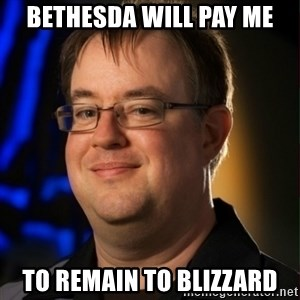 Jay Wilson Diablo 3 - bethesda will pay me to remain to blizzard