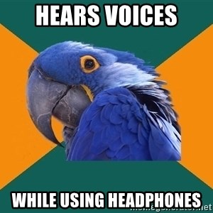 Paranoid Parrot - Hears voices while using headphones