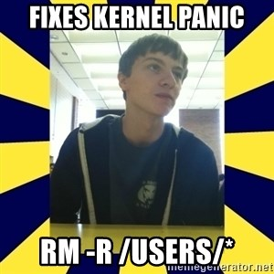 Backstabbing Billy - Fixes kernel panic rm -r /Users/*