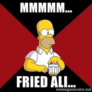 Homer Jay Simpson - Mmmmm... fried ali...