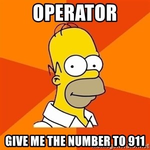 Homer Advice - Operator give me the number to 911