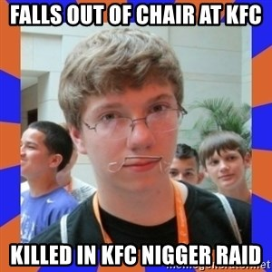 LOL HALALABOOS - falls out of chair at kfc killed in kfc nigger raid
