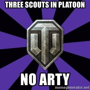 World of Tanks - three scouts in platoon no arty
