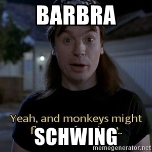 Wayne's world - bARBRA sCHWING