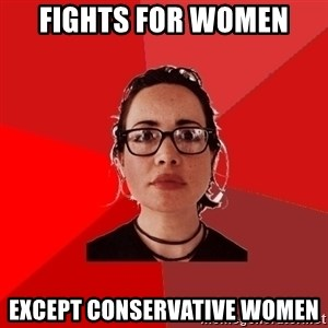 Liberal Douche Garofalo - Fights for women except conservative women