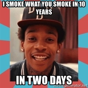 wiz khalifa - I smoke what you smoke in 10 years in two days