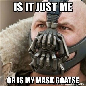 Bane - Is it just me or is my mask goatse