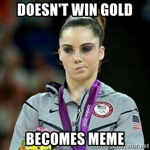 Not Impressed McKayla - doesn't win gold  becomes meme