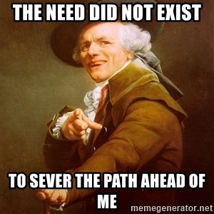 Joseph Ducreux - The Need did not exist to sever the path ahead of me