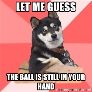 Cool Dog - let me guess the ball is still in your hand