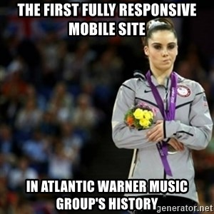 unimpressed McKayla Maroney 2 - the first fully responsive mobile site in atlantic warner music group's history
