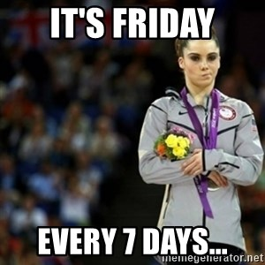 unimpressed McKayla Maroney 2 - it's friday Every 7 days...