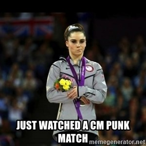 Unimpressed McKayla Maroney - just watched a cm punk match