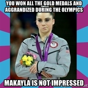 Makayla Maroney  - You won all the gold medals and aggrandized during the olympics Makayla is not impressed
