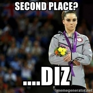 unimpressed McKayla Maroney 2 - second place? ....Diz