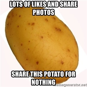 potato meme - lots of likes and share photos Share this potato for nothing