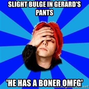 imforig - slight bulge in gerard's pants 'HE HAS A BONER OMFG'