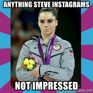 Makayla Maroney  - Anything Steve Instagrams not impressed