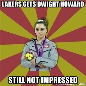 Not Impressed Makayla - Lakers gets dwight howard still not impressed