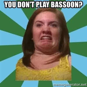 Disgusted Ginger - you don't play bassoon?